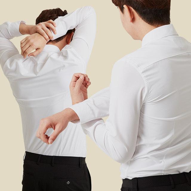 출근시간 단축키 논아이론 셔츠 시리즈